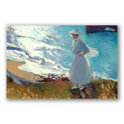 Maria en la playa de Biarritz-Copia obras arte joaquin sorolla y bastida