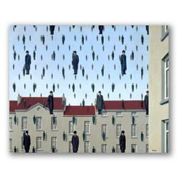Golconda-Copia obras de arte famosas rene magritte