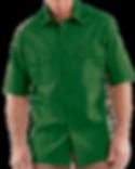 Camisa manga larga dril botones verde me