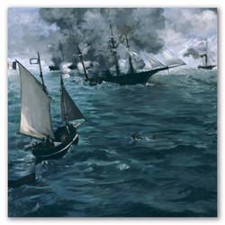 Batalla de kearsarge y alabama-Copia obras de arte famosas edouard manet