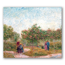 Jardin de Mortmartre-Copia obras arte famosas vincent van gogh