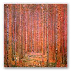El bosque de pinos-Copia obras arte gustav klimt