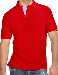 Camisetas tipo polo roja uniformes en me