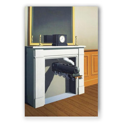 El tiempo perforado-Copia obras de arte famosas rene magritte