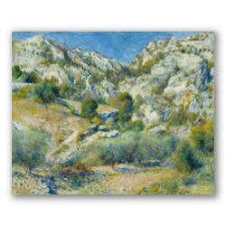 Peñas rocosas en l'estanque-Copia de obras de arte famosas pierre auguste renoir