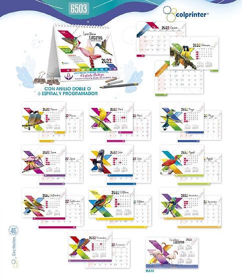 Almanaques y calendarios publicitarios escritorio ejecutivo ref 6503 medellin.JPG