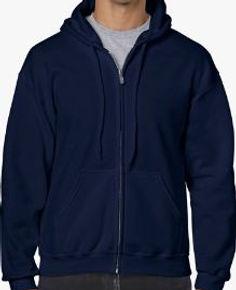 Buso perchado capucha y cierre azul mari
