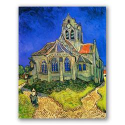 La iglesia de Auvers-Copia obras arte famosas vincent van gogh