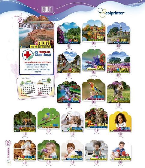 Almanaques y calendarios publicitarios imantados tradicional Ref6001.JPG