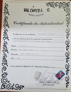 Arlequines El Secreto - Certificado de A
