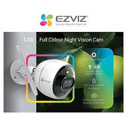 Camara ezviz color night exterior microf