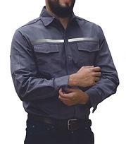 dotaciones empresariales camisa drill gris ratón reflectivo medellin.jpg