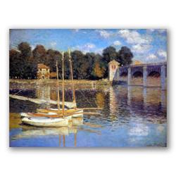 Puente en Argenteuil-Copia obras arte claude monet