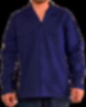 Camisa manga larga dril botones azul osc