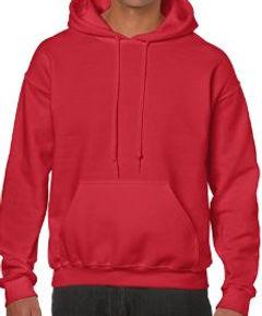 Buso perchado capucha rojo gildan medell