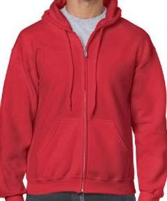 Buso perchado capucha y cierre rojo gild