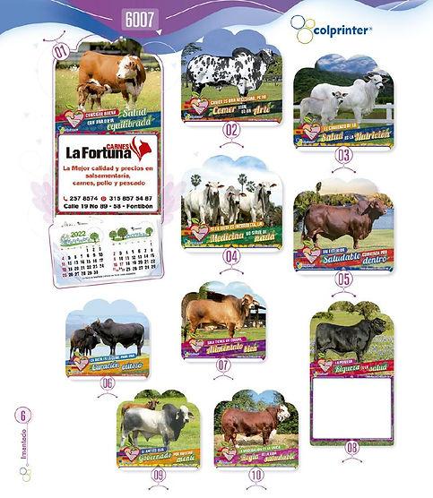Almanaques y calendarios publicitarios imantados carnes Ref6007.JPG