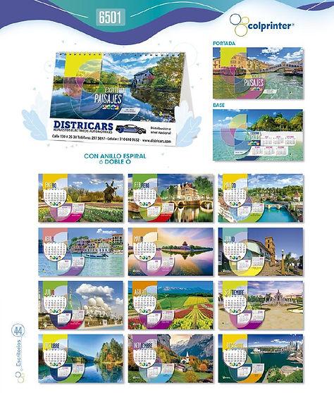 Almanaques y calendarios publicitarios escritorio paisajes ref 6501 medellin.JPG