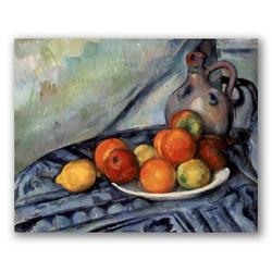 Fruta y jarra en una mesa-Copia obras arte paul cezanne