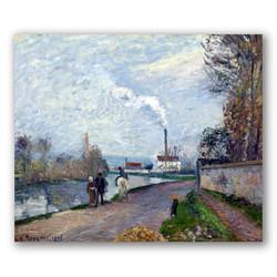 El rio oise cerca pontoise cielo gris-Copia obras de arte famosas camille pissarro