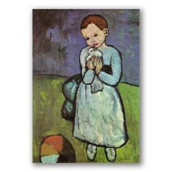 Niño con paloma-Copia obras arte pablo picasso