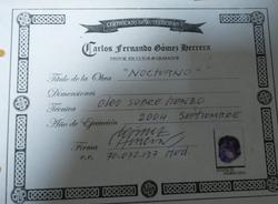 Nocturno Certificado de Autenticidad - O