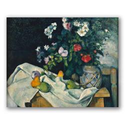 Naturaleza muerta con flores y frutas-Copia obras arte paul cezanne