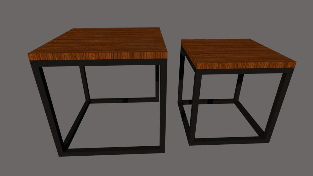 Mobiliario muebles para el hogar,oficina,restaurantes,bares mesas dobles tipo industrial