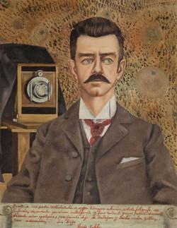 Retrato de mi padre Wilhelm Kalho-Copia obras arte famosas frida kahlo