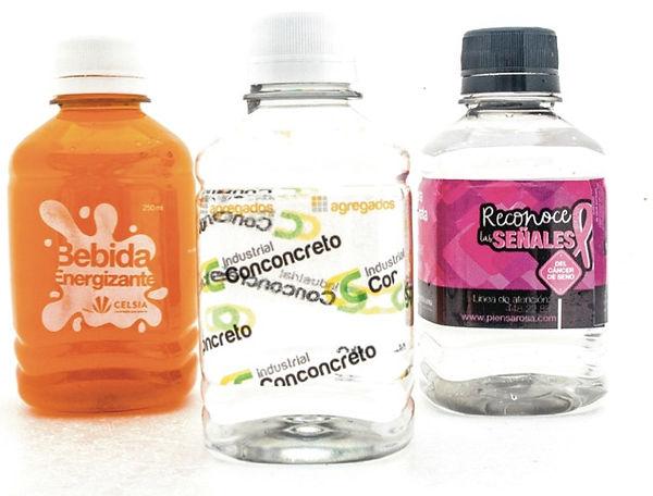 Botellas de agua saborizadas y energizad