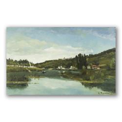 El rio marne en chennevieres-Copia obras de arte famosas camille pissarro