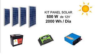 Kit paneles solares energia solar 800W.j