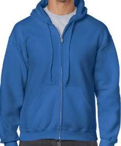 Buso perchado capucha y cierre azul roya