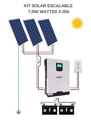 Kit solar de 7000 wattss en medellin ene