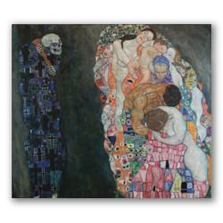Muerte y vida-Copia obras arte gustav klimt