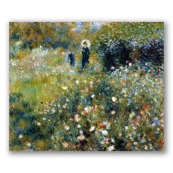 Mujer con sombrilla en un jardín-Copia de obras de arte famosas pierre auguste renoir