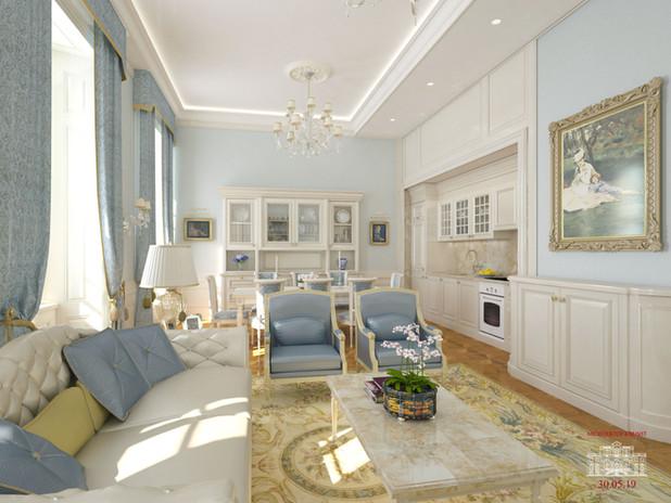 Wohnzimmer Neoklassik-2