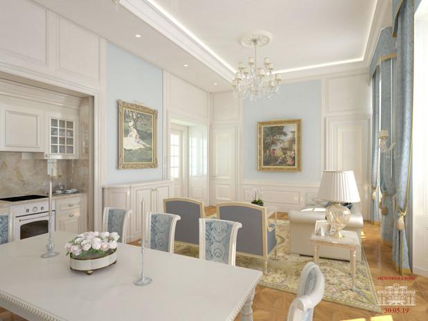 Wohnzimmer Neoklassik-1