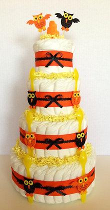 Halloween - Owl Diaper Cake 4 Tier