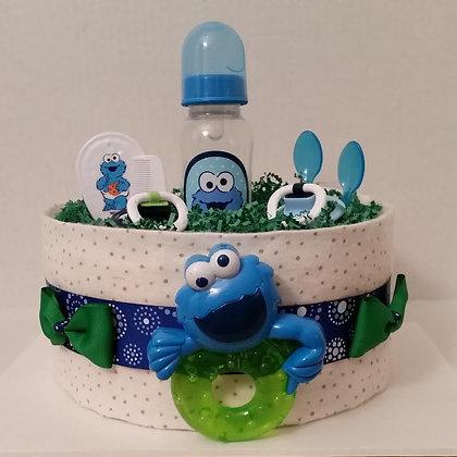 Monster-Sesame Diaper Cake