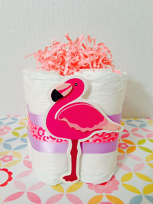 Baby Flamingo Diaper Cake Centerpieces (2)