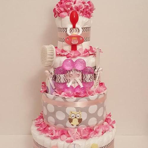 Girl Diaper Cakes Bay Girl Gift Diaper Cakes for Girls
