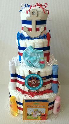 Marine Baby Diaper Cake 4 Tier