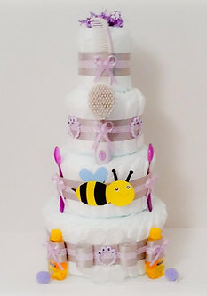 Mix And Match Bee Diaper Cake   4 Tier