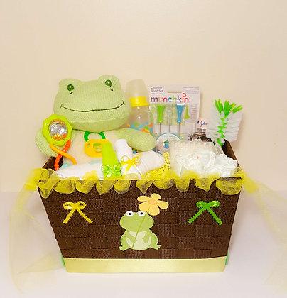 Baby Frog Gift Basket