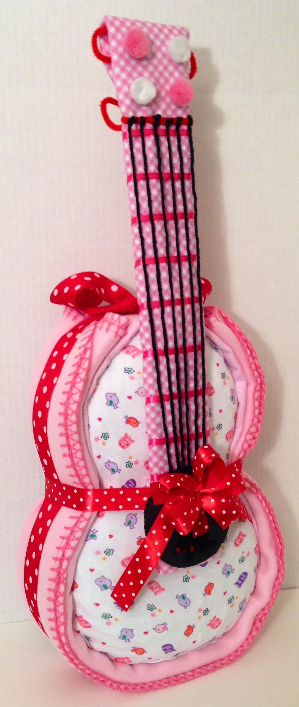 Pink Diaper Guitar Cake