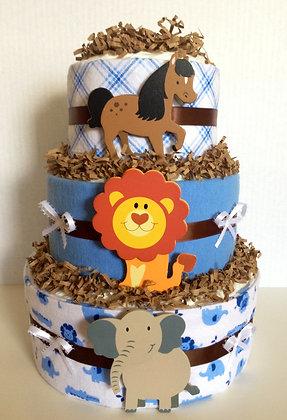 Little Farm Baby Animals Blanket-Diaper Cake