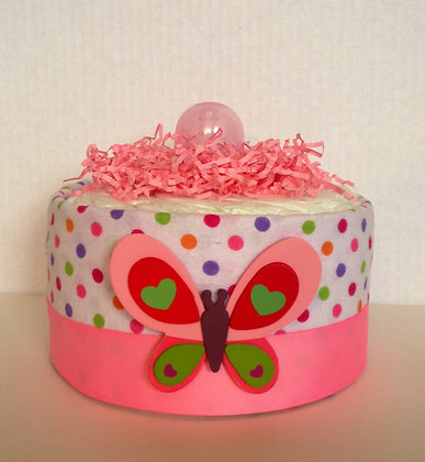 Butterfly Centerpiece - Mini Diaper Cake