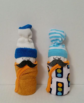 Mustache Babies Diaper Cake - Set of Two
