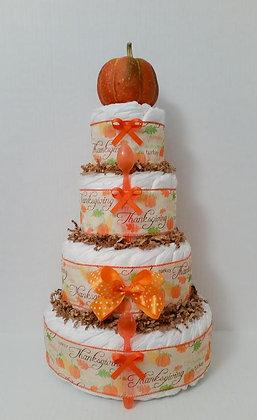 Thanksgiving-Fall-Pumpkin Inspired Diaper Cake